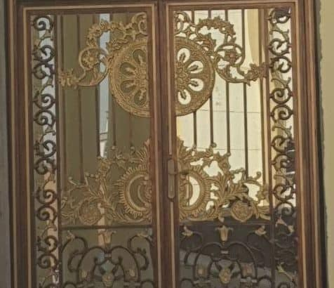 cast aluminium gates and staircase